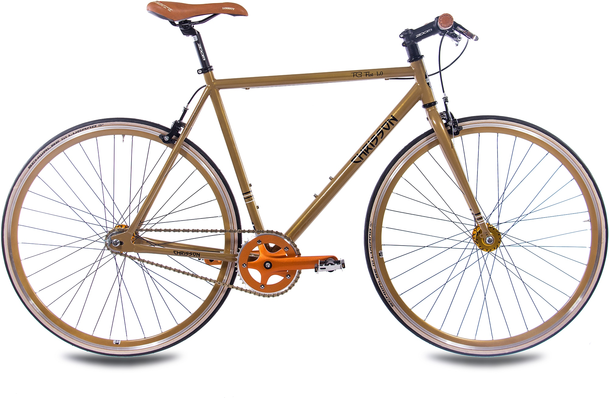 Chrisson Singlespeed FG Flat 1.0, 1 Gang ohne Schaltung (1-tlg.) goldfarben Fahrräder Zubehör Fahrrad