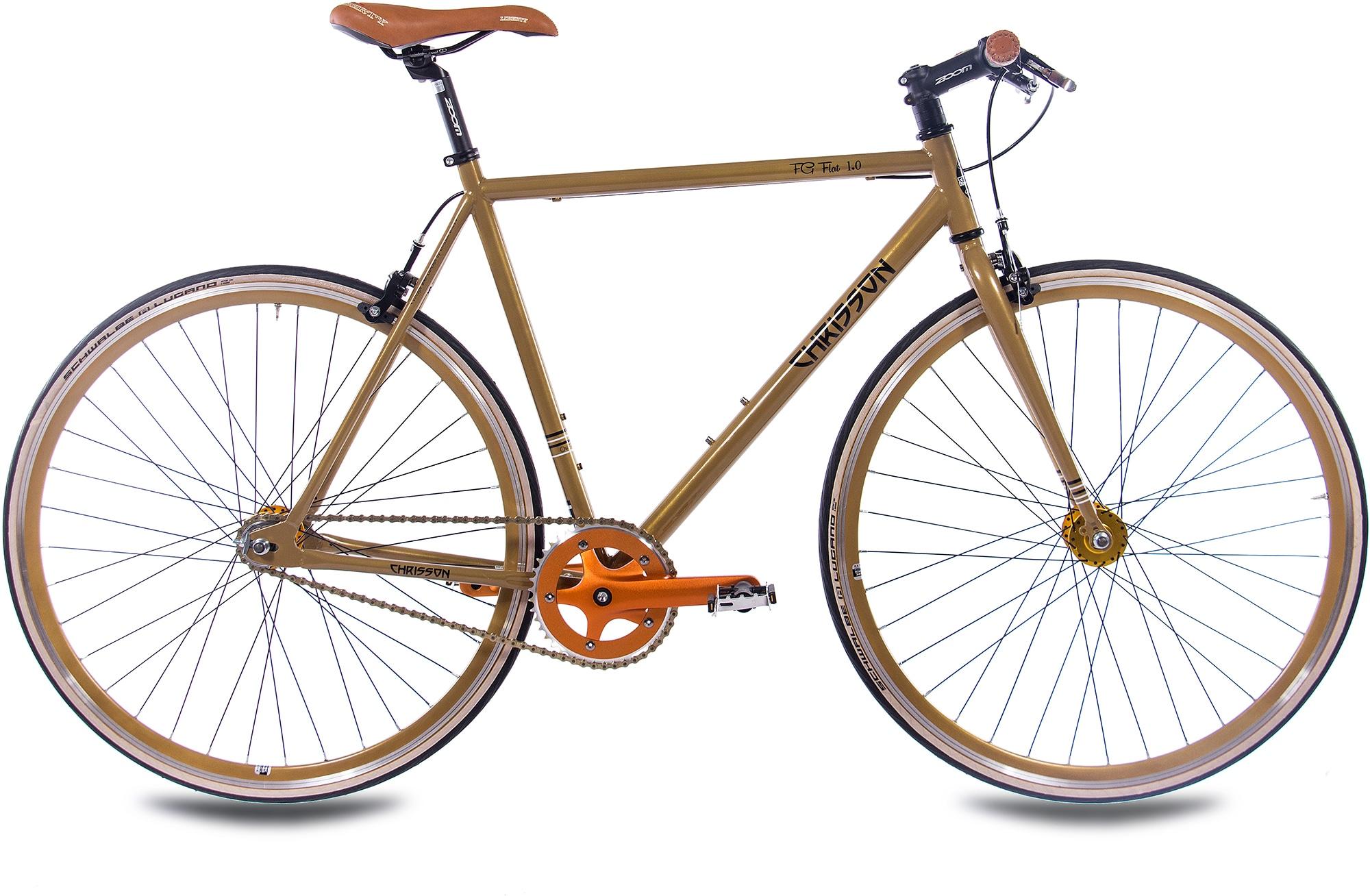 Chrisson Singlespeed FG Flat 1.0, ohne Schaltung, (1 tlg.) goldfarben Fahrräder Zubehör Fahrrad