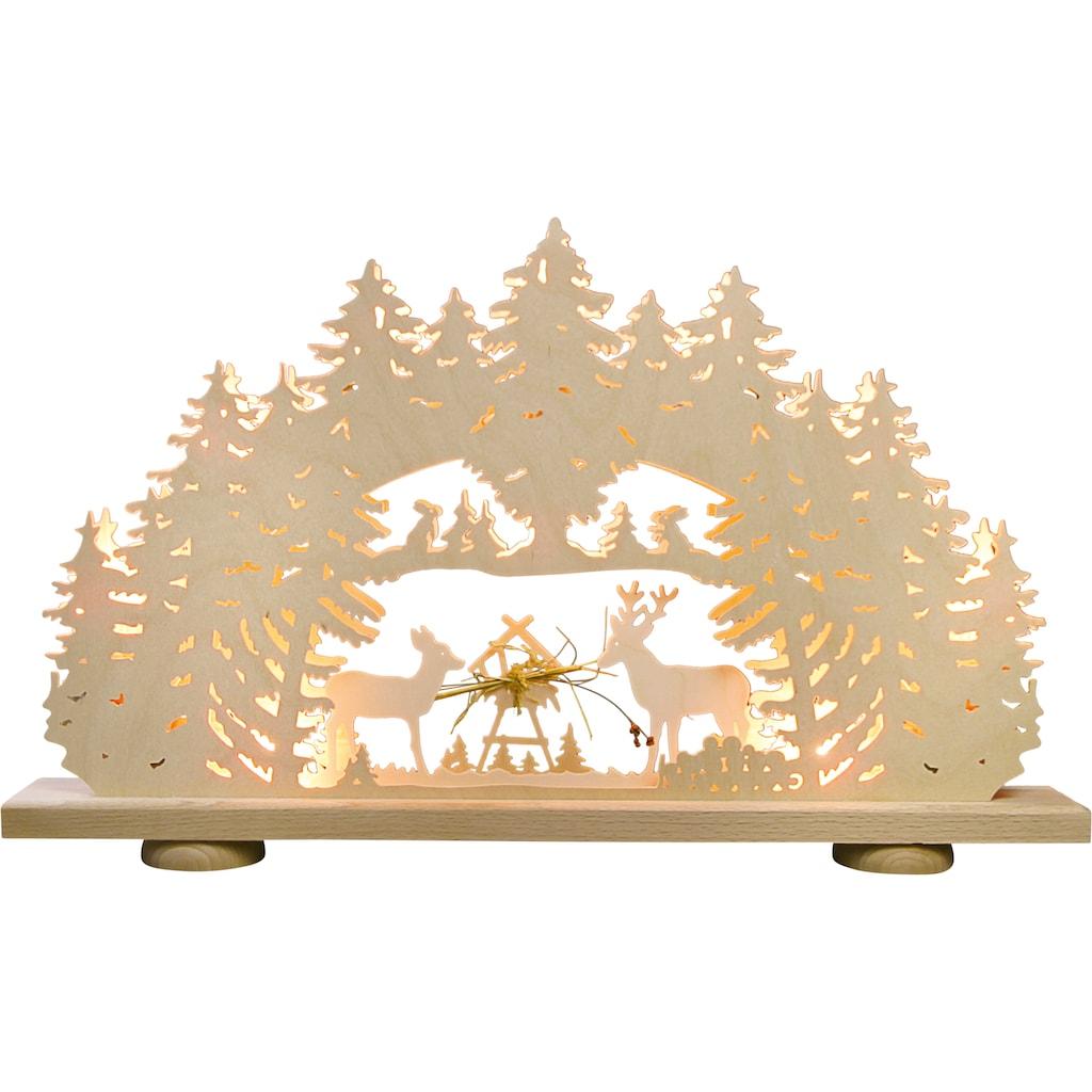 Weigla LED Schwibbogen »Futterkrippe«, 1 tlg., 10-flammig