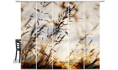 Schiebegardine, »Grasland big«, emotion textiles, Klettband 5 Stück kaufen