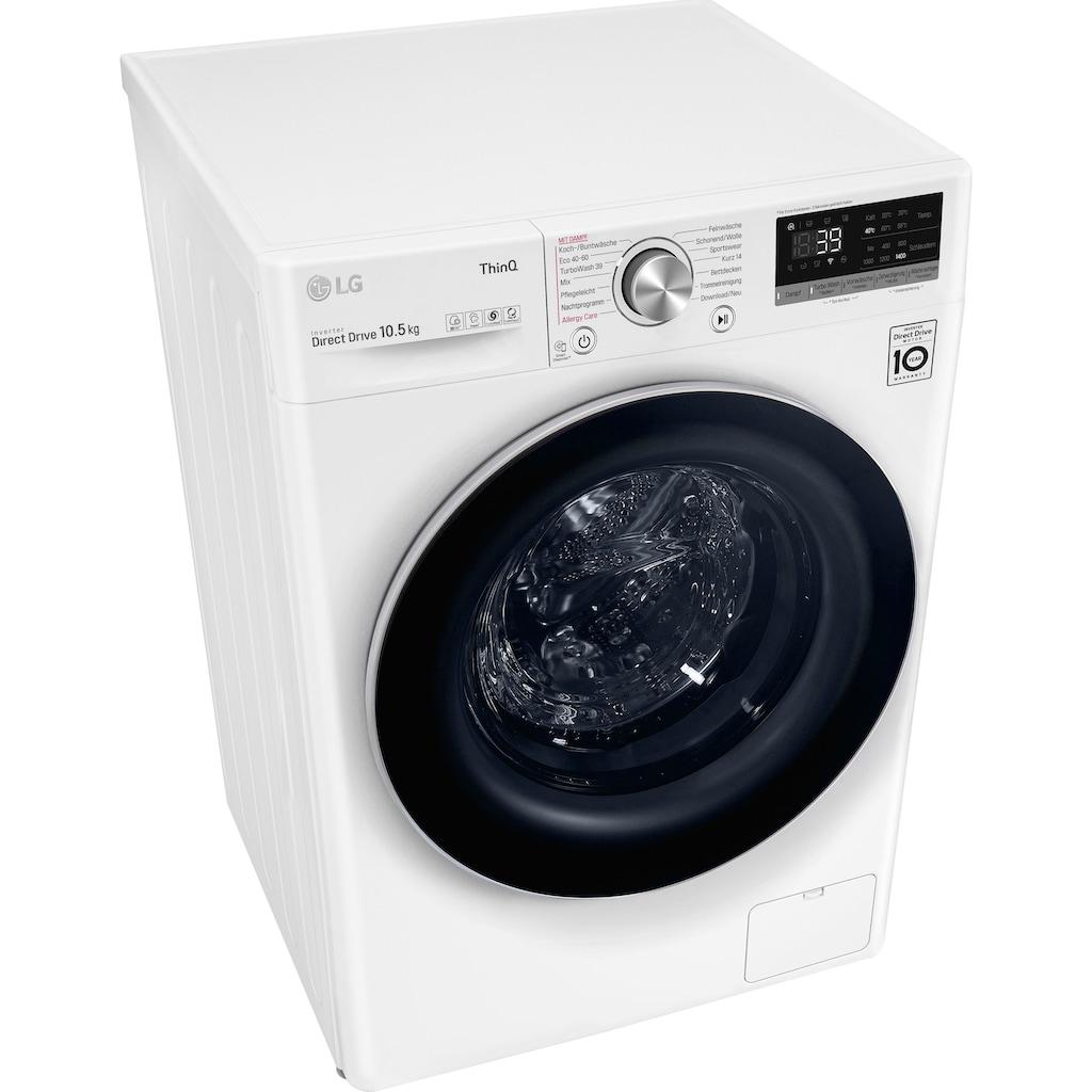 LG Waschmaschine »F4WV710P1«, Serie 7, F4WV710P1E, 10,5 kg, 1400 U/min