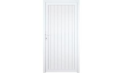 KM MEETH ZAUN GMBH Nebeneingangstür »K608P«, BxH: 98x198 cm, weiß, rechts kaufen