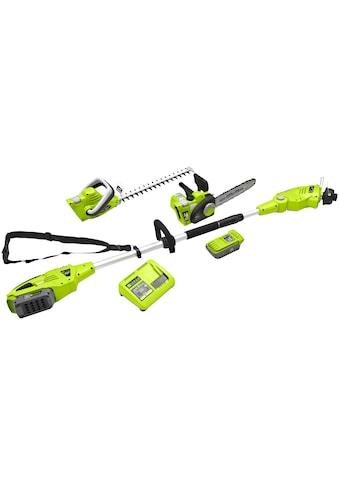 ZIPPER Gartenpflege - Set »ZI - GPS40V - AKKU«, Trimmer, Heckenschere, Astsäge, Akku und Ladegerät kaufen