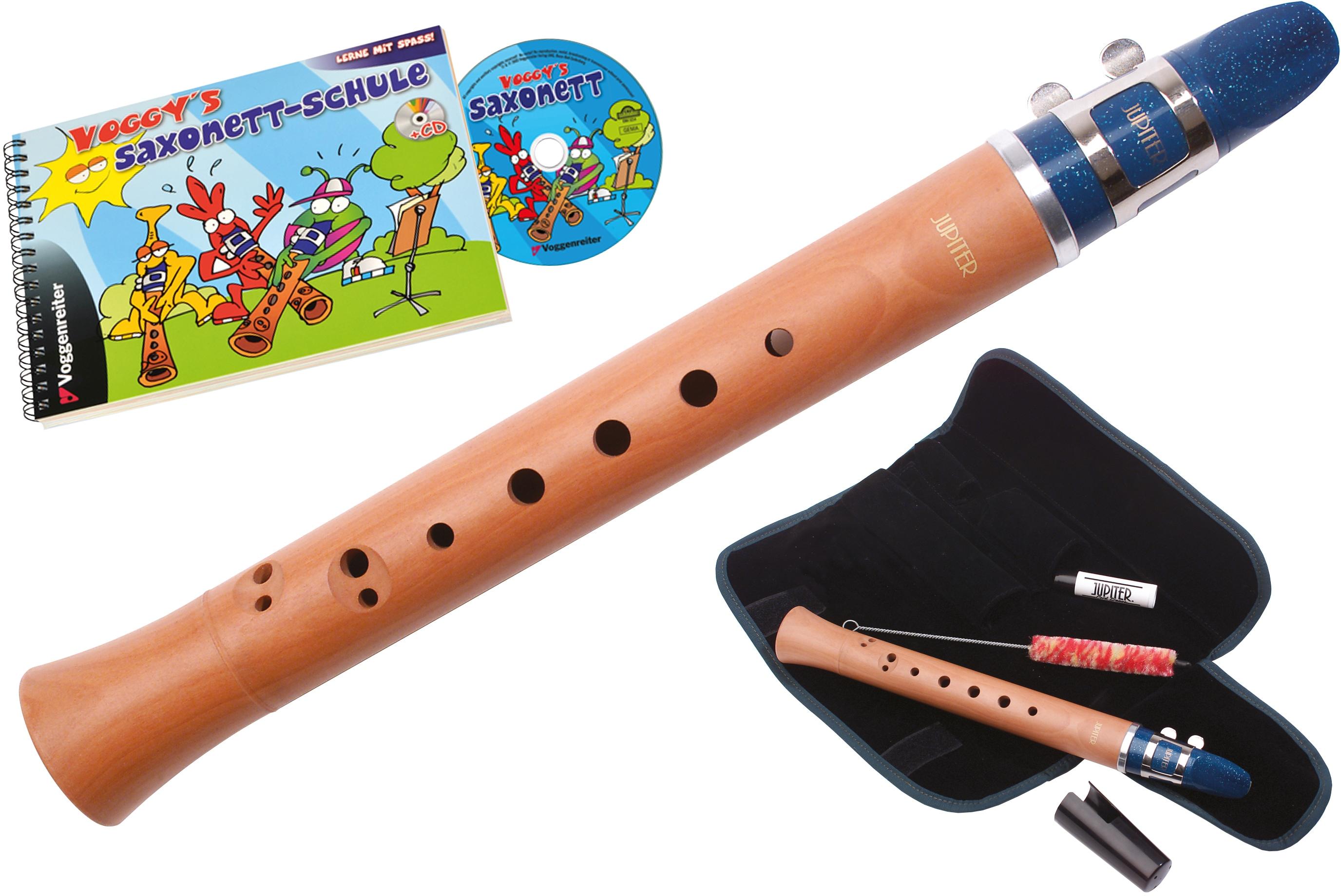 Voggenreiter Saxonett Voggys Saxonett-Set, C-Dur, Deutsch braun Blasinstrumente Musikinstrumente Audio, MP3, Musik