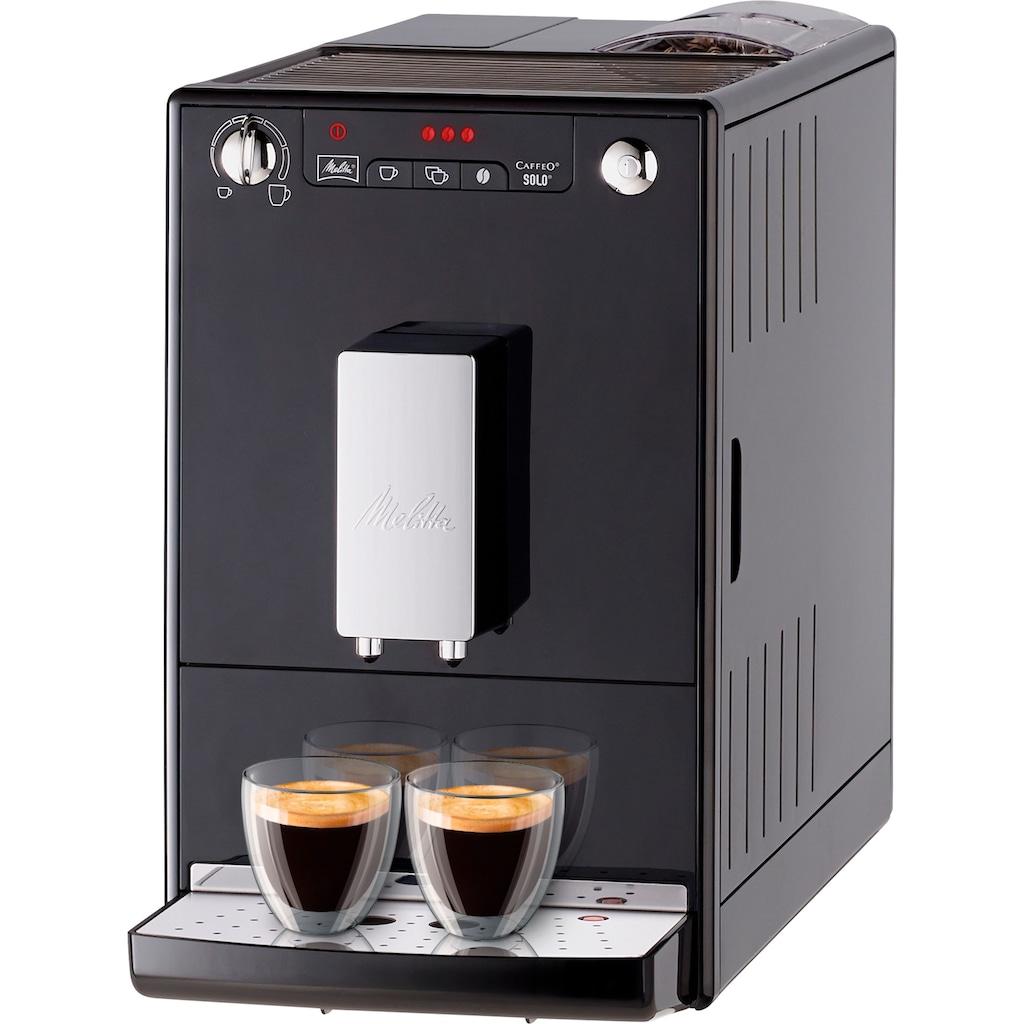 Melitta Kaffeevollautomat CAFFEO® Solo® schwarz E 950-101, 1,2l Tank, Kegelmahlwerk