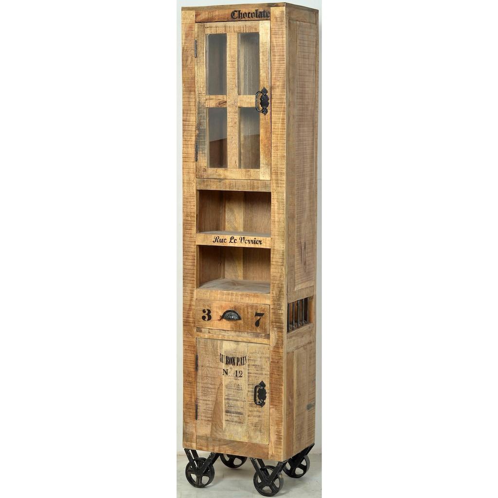 SIT Vitrine »Rustic«, 2-türig, im Factory design, Höhe 190 cm, Shabby Chic, Vintage