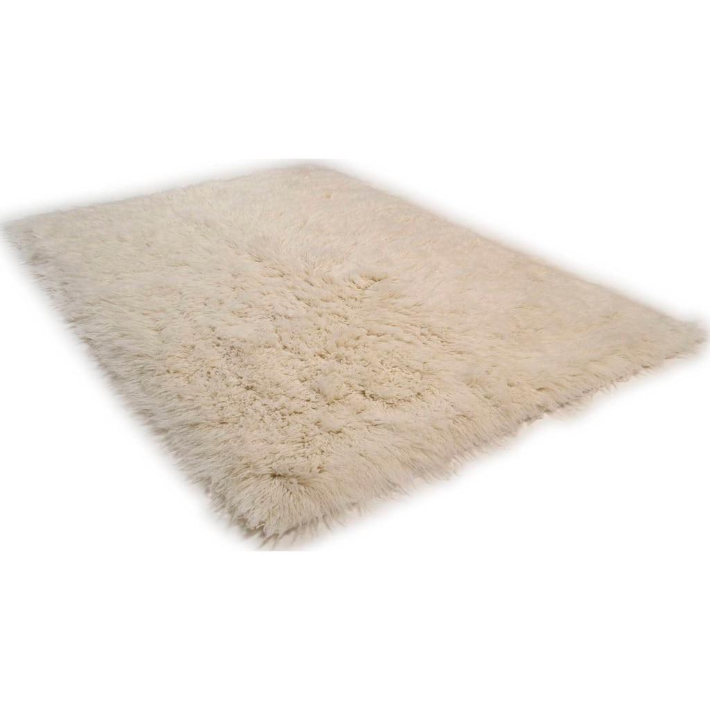 Theko Exklusiv Wollteppich »Flokos 2«, rechteckig, 70 mm Höhe, Hochflor, reine Wolle, handgewebt, Wohnzimmer