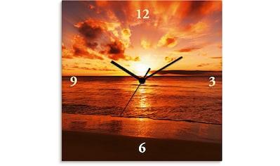 Artland Wanduhr »Schöner Sonnenuntergang Strand« kaufen