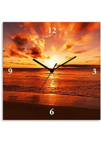 Artland Wanduhr »Schöner Sonnenuntergang Strand«, lautlos, ohne Tickgeräusche, nicht... kaufen