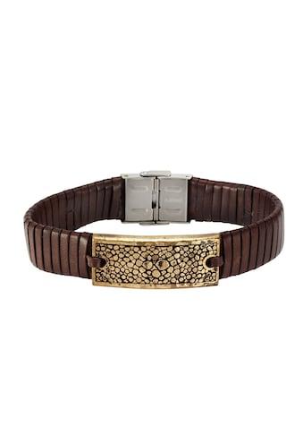 NOX Armband »Leder braun Edelstahl kupferfarben«, Lederband kaufen