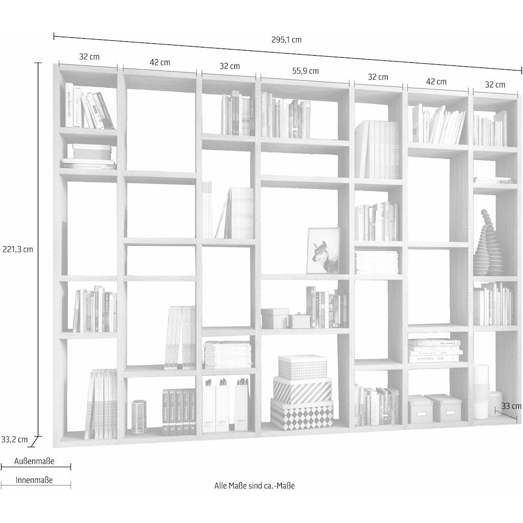 fif möbel Raumteilerregal »TORO 380«, Breite 295 cm