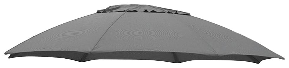sungarden Ersatzschirmbespannung, Ø 375 cm, rund grau Ersatzschirmbespannung Sonnenschirme -segel Gartenmöbel Gartendeko
