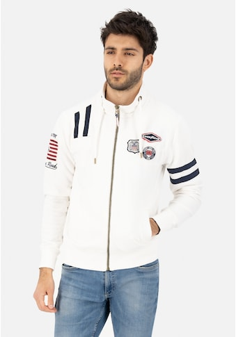 Goodyear Sweatjacke, mit stylischen Markenpatches kaufen