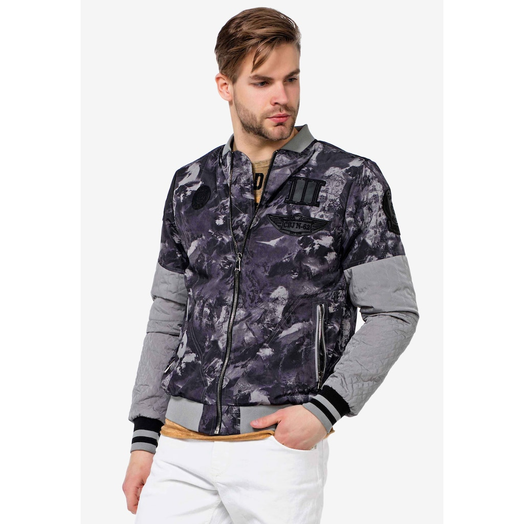 Cipo & Baxx Collegejacke, in coolem Military-Style