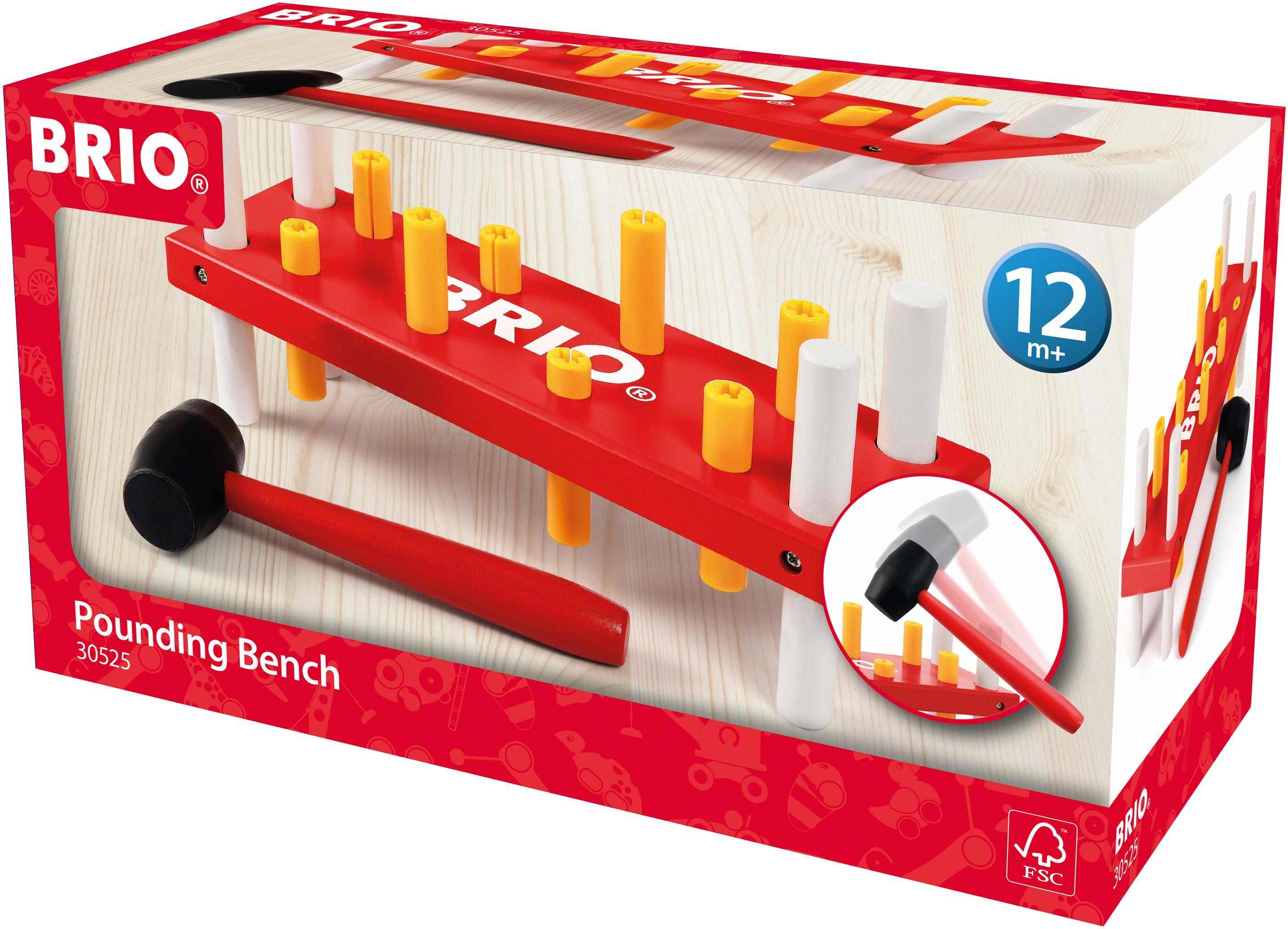 BRIO Steckspielzeug bunt Kinder Steck- Stapelspielzeug Baby Kleinkind