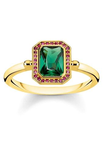 THOMAS SABO Fingerring »Steine rot & grün Gold, TR2264-973-7-52, 54, 56, 58, 60«, mit Glassteinen und synth. Korund kaufen