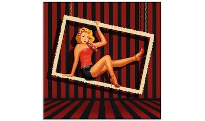 Artland Glasbild »Schönheit aus den 50er Jahren«, Frau, (1 St.) kaufen