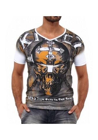 KINGZ T-Shirt, mit lässigem Allover-Print kaufen