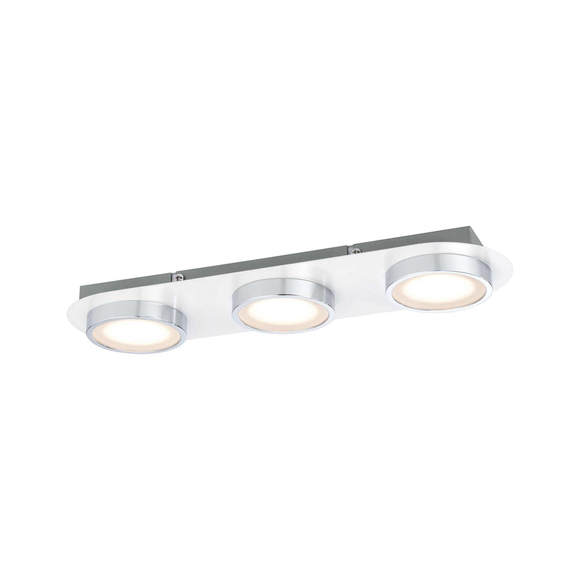 Paulmann LED Deckenleuchte Liao 14,1W Weiß matt/Chrom, 1 St., Warmweiß