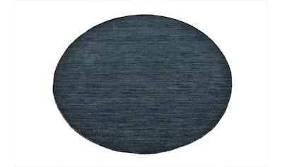 Theko Exklusiv Wollteppich »Gabbeh Uni«, rund, 15 mm Höhe, reine Wolle, elegante... kaufen