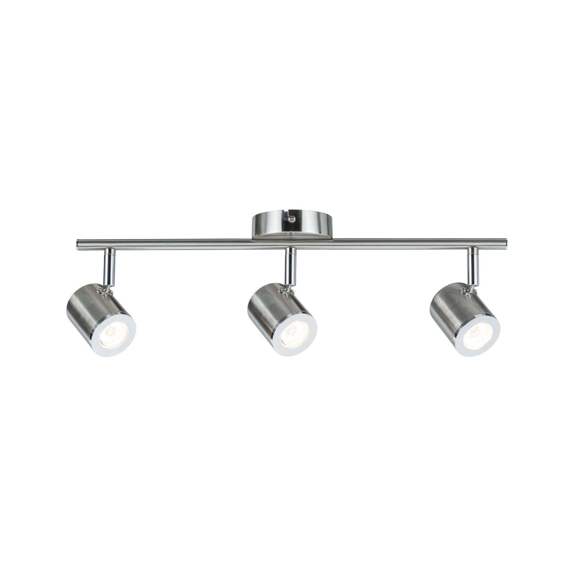 Paulmann LED Deckenleuchte 3er-Spot Nickel Silberfarben Tumbler 3x4,5W, 1 St., Warmweiß