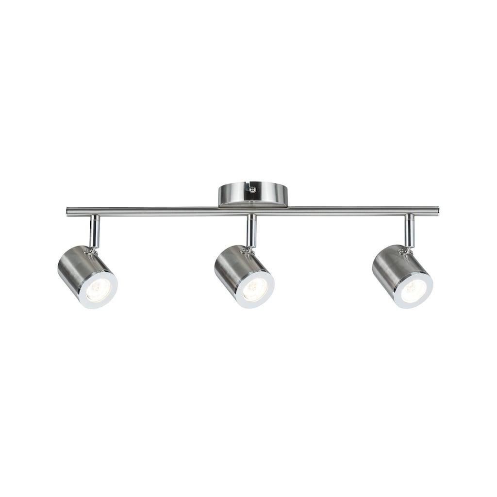 Paulmann LED Deckenleuchte »3er-Spot Nickel Silberfarben Tumbler 3x4,5W«, 1 St., Warmweiß