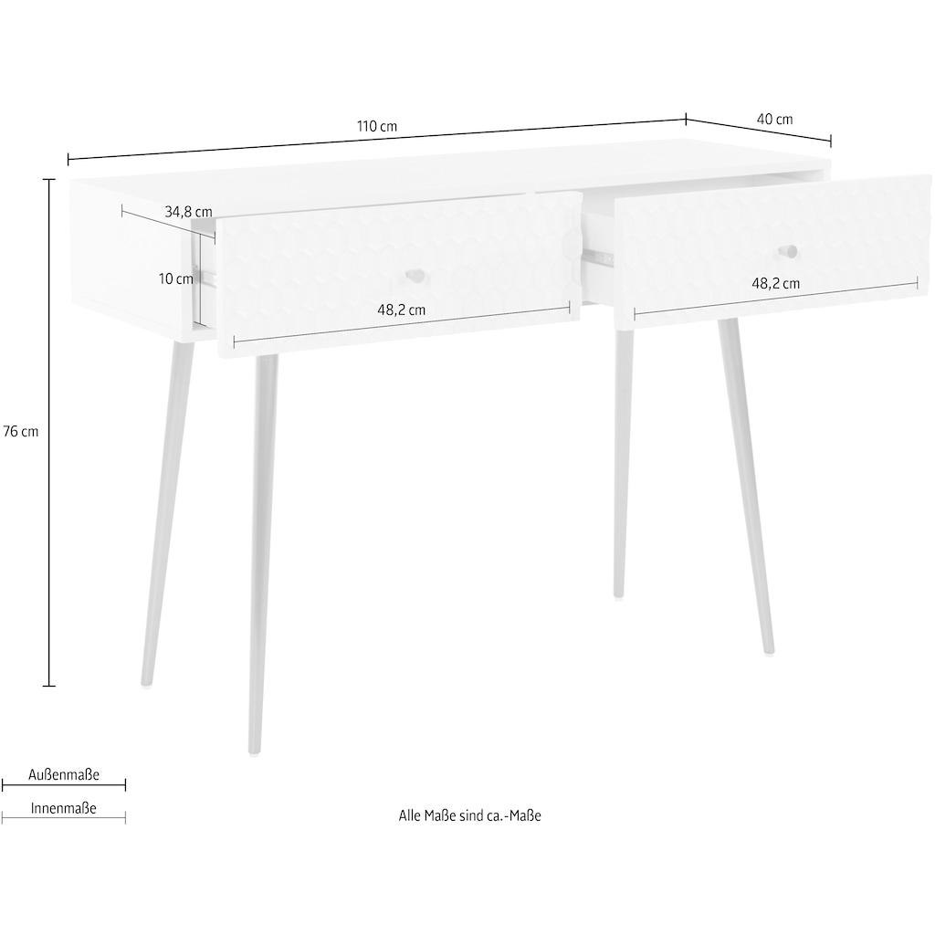Guido Maria Kretschmer Home&Living Konsole »Easily«, Modernes Design, 2 Schubladen