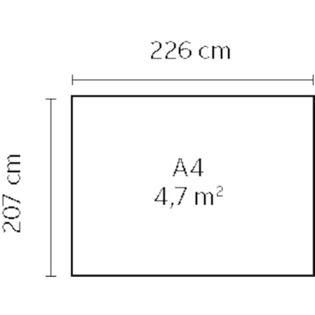 YARDMASTER Stahlgerätehaus »Bayern 87«, BxTxH: 242x217x193 cm
