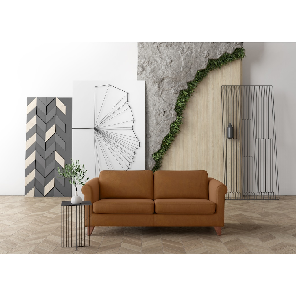 machalke® 2,5-Sitzer »amadeo«, Ledersofa mit geschwungenen Armlehnen, Breite 180 cm