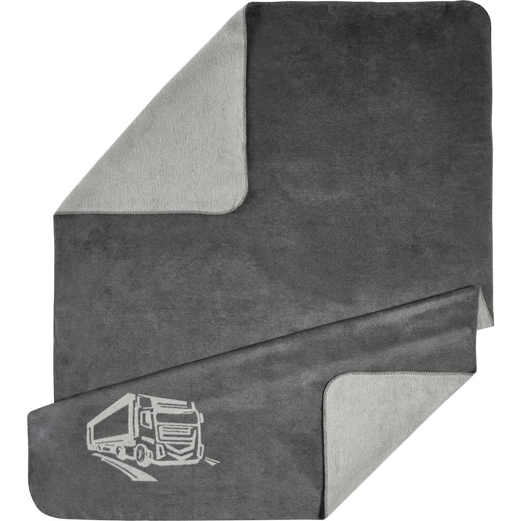 Kneer Wohndecke »Motiv«, wahlweise mit LKW, Gingko oder Hirsch