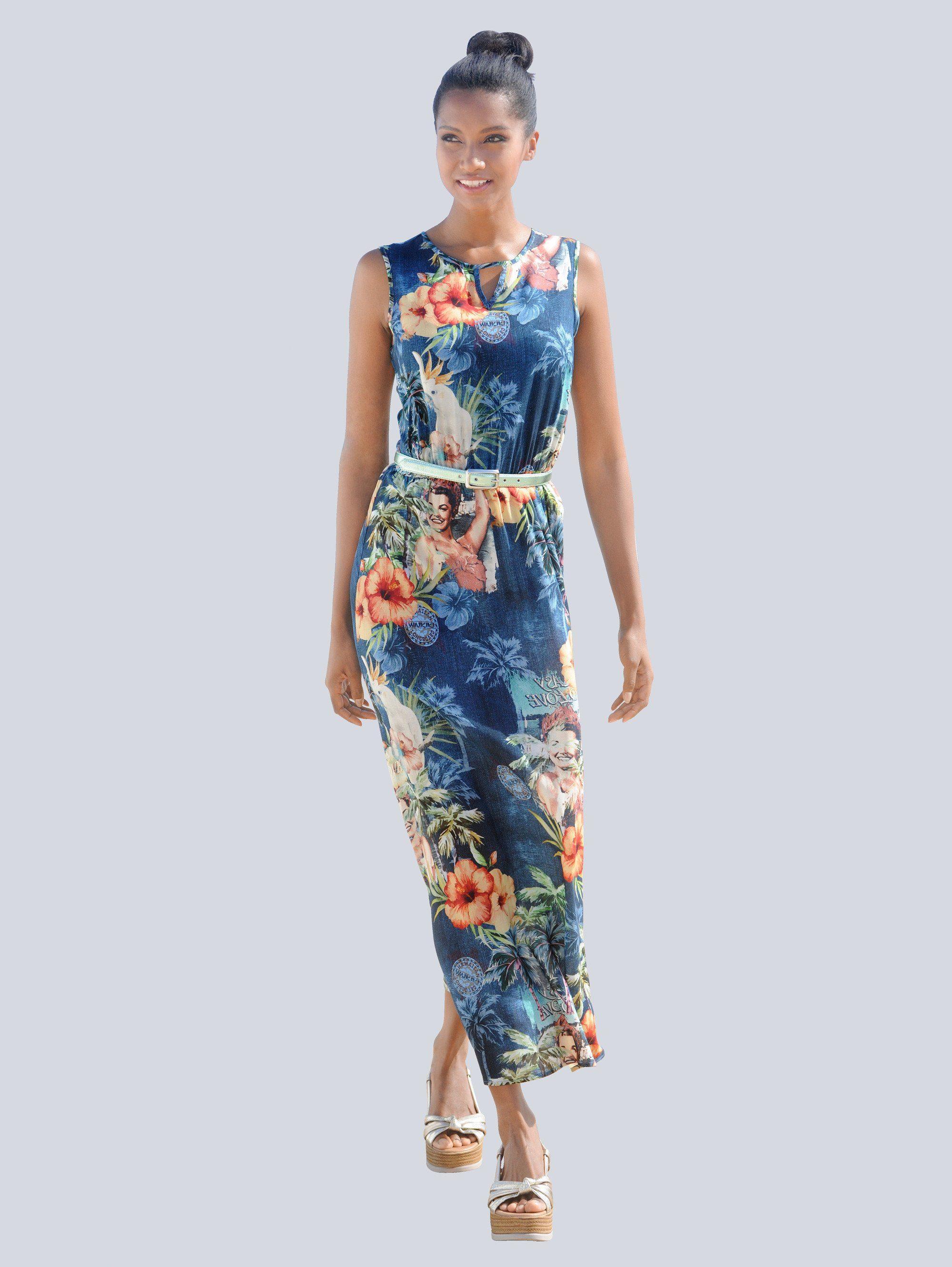 Alba Moda Kleid mit Retro-Druck