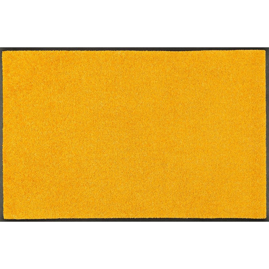 wash+dry by Kleen-Tex Fußmatte »Trend Uni«, rechteckig, 7 mm Höhe, Schmutzfangmatte, In- und Outdoor geeignet, waschbar