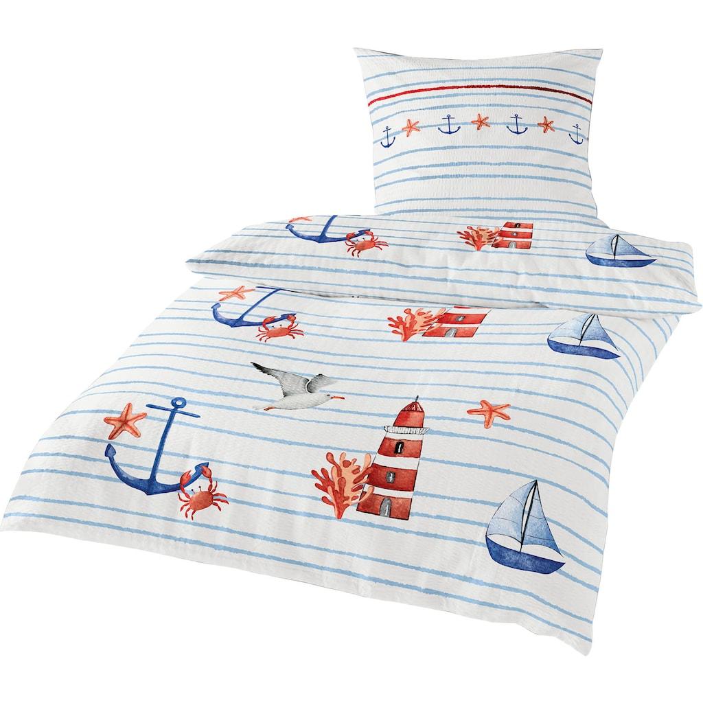 BIERBAUM Bettwäsche »Sea Breeze«, mit maritimen Motiven
