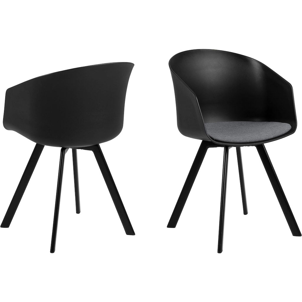 andas Schalenstuhl »Maik«, mit Metallbeinen und einem bequemen Sitzkissen aus schönem Webstoff, Sitzhöhe 46 cm