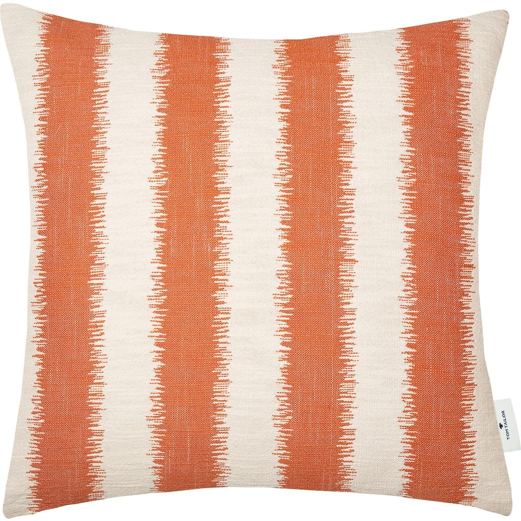 TOM TAILOR Kissenhülle »Fading Stripe«, (1 St.), mit modernem Ethno-Muster