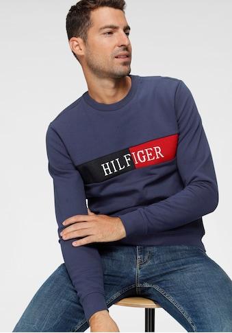 TOMMY HILFIGER Sweatshirt »HILFIGER INTARSIA SWEATSHIRT« kaufen