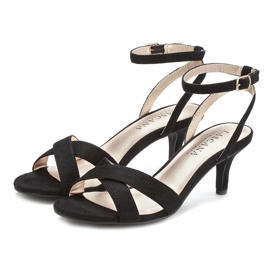LASCANA Sandalette, mit bequemen Absatz und schicken Riemchen