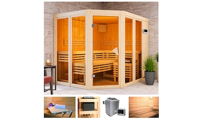 KARIBU Sauna »Aaina 3«, 231x196x198 cm, 9 kW Ofen mit ext. Steuerung kaufen