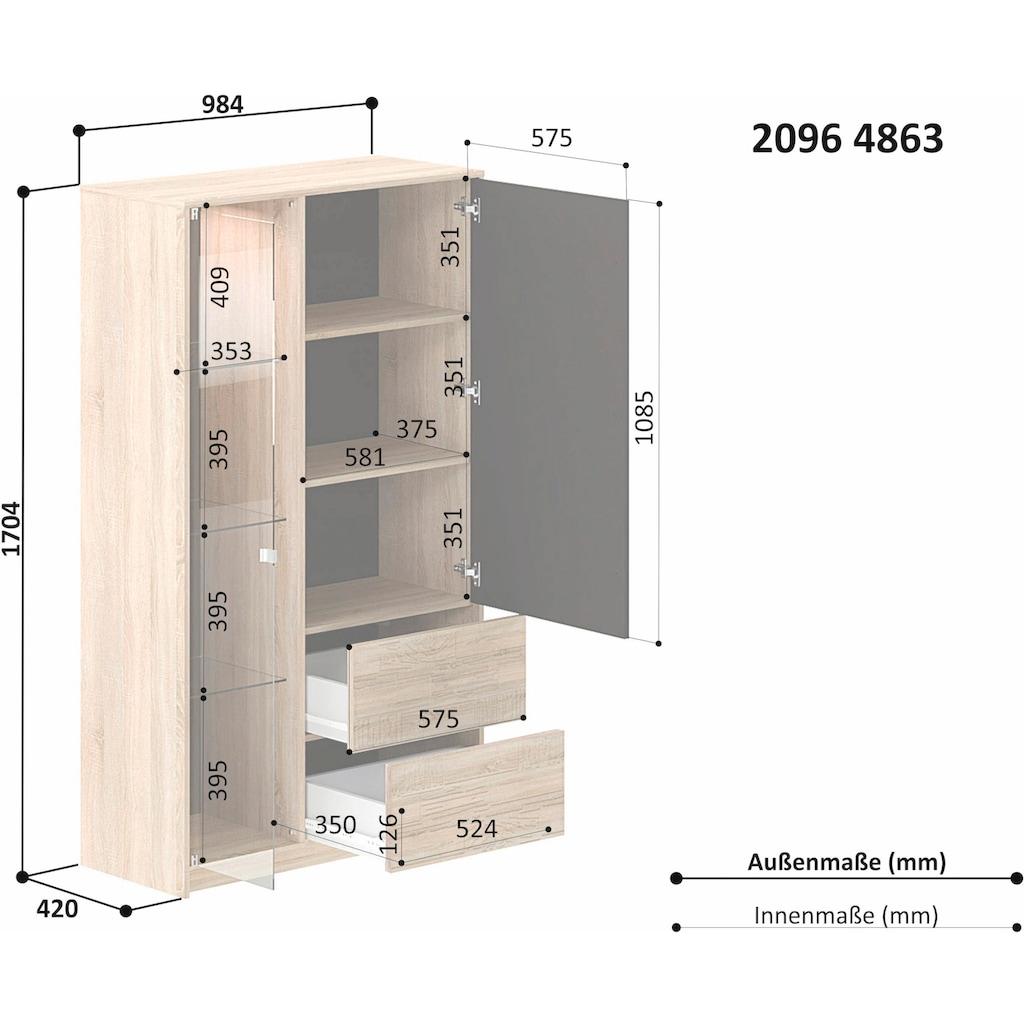 INOSIGN Vitrine »Brick«, mit Hintergrundbeleuchtung, Höhe 170,5 cm