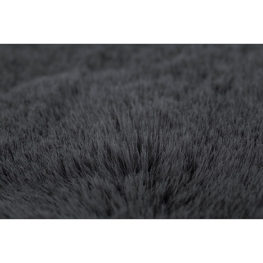 Andiamo Fellteppich »Novara«, rund, 35 mm Höhe, Kunstfell, Kaninchenfell-Haptik, ein echter Kuschelteppich, Wohnzimmer