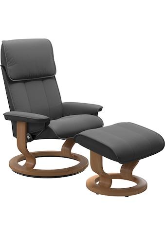 Stressless® Relaxsessel »Admiral«, mit Hocker, mit Classic Base, Größe M & L, Gestell Eiche kaufen