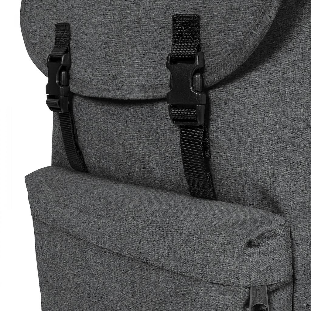 Eastpak Laptoprucksack »LONDON+, Black Denim«, enthält recyceltes Material (Global Recycled Standard)