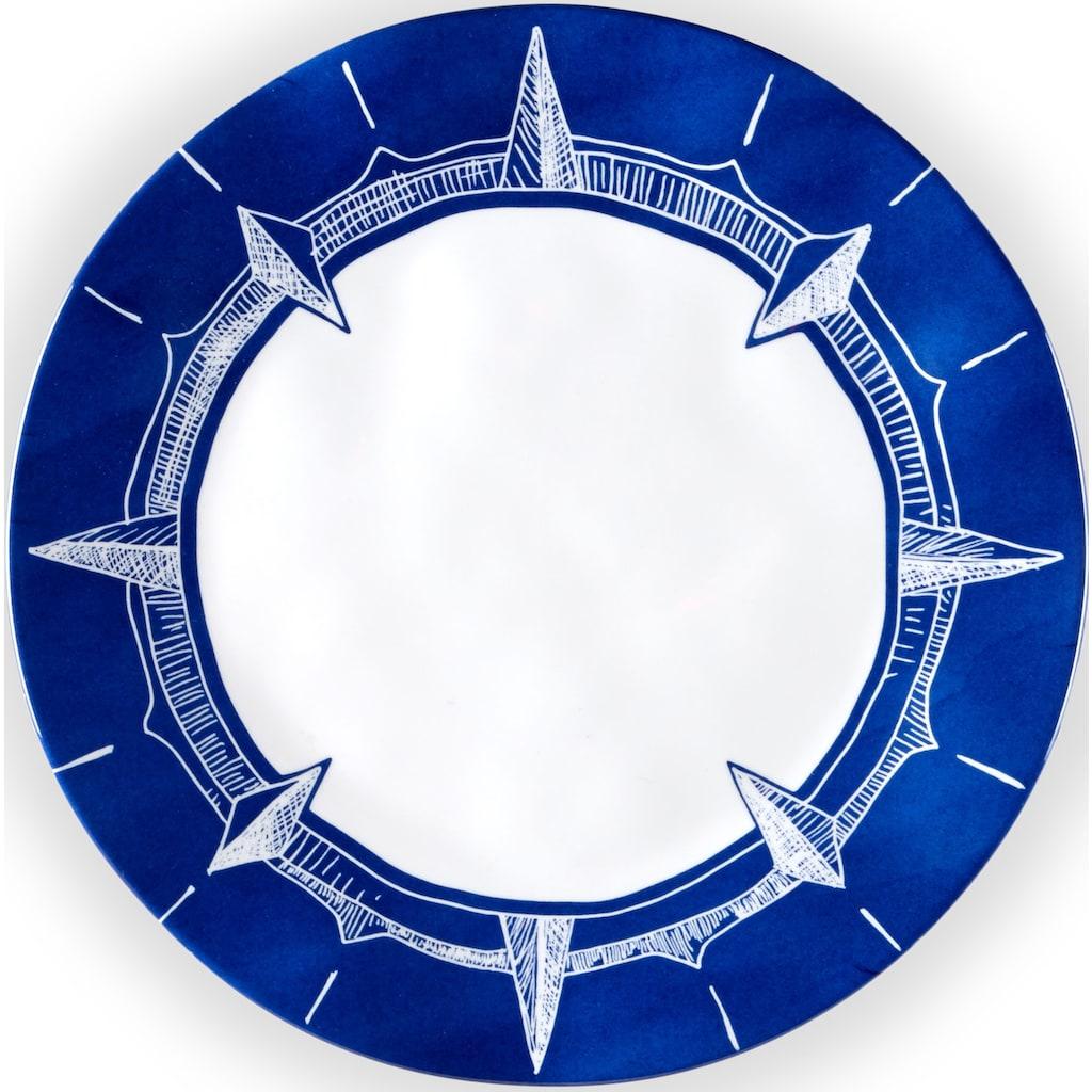 Q Squared NYC Speiseteller »Portsmouth Collection«, (Set, 2 St.), Ø 27 cm, Melamin