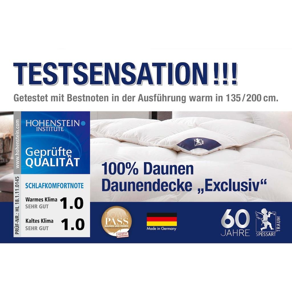SPESSARTTRAUM Daunenbettdecke »Exklusiv«, warm, Füllung 100% Daunen, Bezug 100% Baumwolle, (1 St.), Daunendecke hergestellt in Deutschland, allergikerfreundlich, Bestseller, Decke, Bettdecke