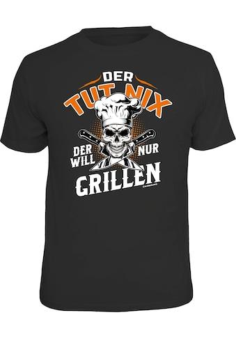 Rahmenlos T-Shirt mit coolem BBQ-Motiv kaufen