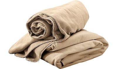 Irisette Wohndecke »Velvet«, mit Fleece- und Fellseite kaufen