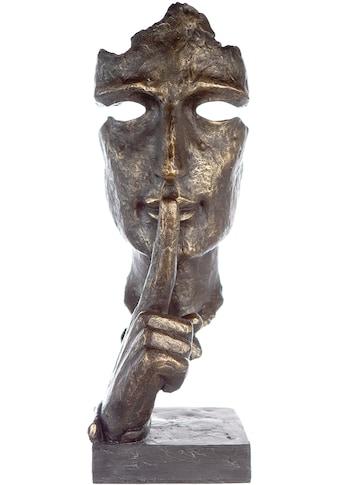 Casablanca by Gilde Dekofigur »Skulptur Silence, bronzefarben/grau«, Dekoobjekt, Höhe... kaufen
