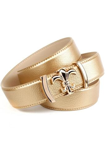 Anthoni Crown Ledergürtel, mit glänzender Lilienschließe kaufen