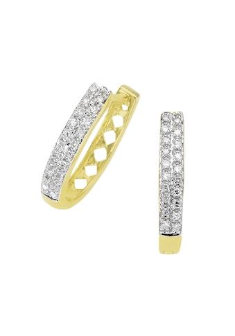 Diamonds by Ellen K. Creolen »585/ -  Gold bicolor Diamant 0,20ct.« kaufen