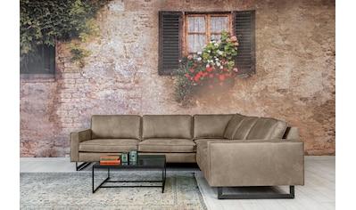 Places of Style Ecksofa »Pinto«, mit langem Schenkel, Keder und Metallfüßen kaufen